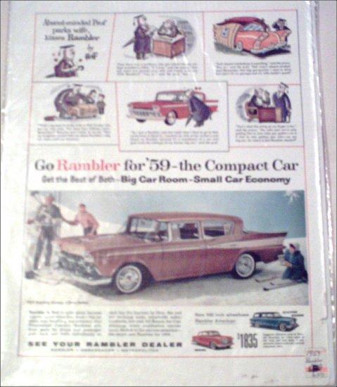 1959 American Motors Rambler Custom Bronze 4 dr sedan car ad