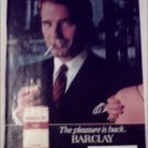1982 Barclay Cigarette Shoulder ad