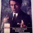 1982 Barclay Cigarette Martini ad