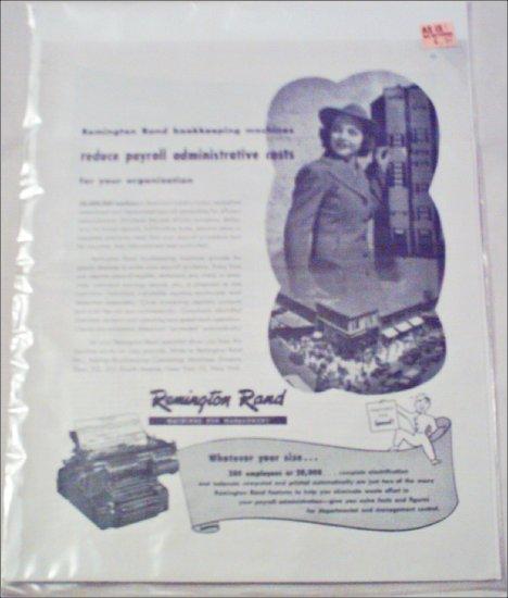 Remington Rand Bookeeping Machines ad