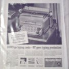 1948 Remington Rand Electric De Luxe Typewriter ad