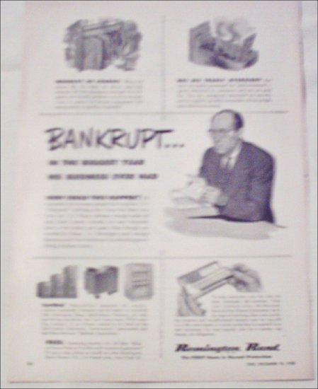 1950 Remington Rand Safe-Cabinet Products ad