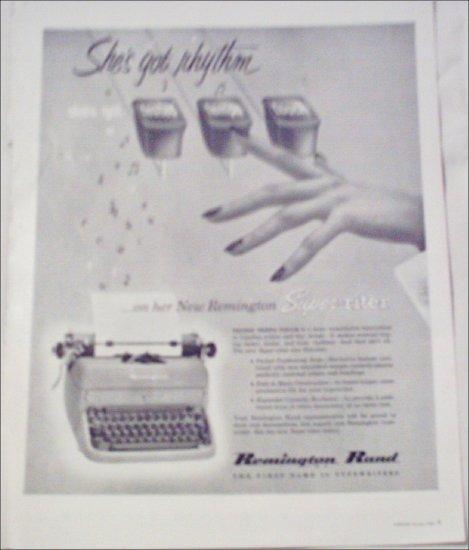 1952 Remington Rand Super-Riter Typewriter ad