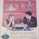 1957 Remington Rand Quiet-Riter Portable Typewriter Christmas ad