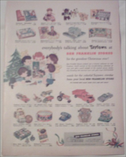 Ben Franklin Stores Christmas ad