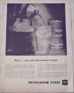 1954 Bethlehem Steel Can ad