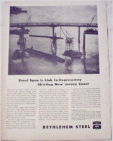 1954 Bethlehem Steel New Jersey Expressway ad