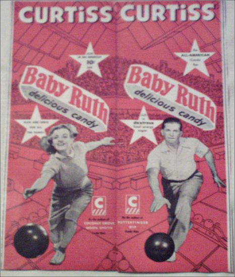 Curtiss Baby Ruth Bowling ad