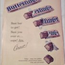 1960 Curtiss Butterfinger Candy Bar ad