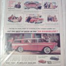 1959 American Motors Rambler CC 4 dr stationwagon car ad red