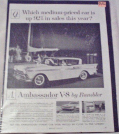 1959 American Motors Ambassador V8 4 dr ht car ad