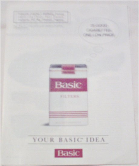 1993 Basic Cigarettes ad