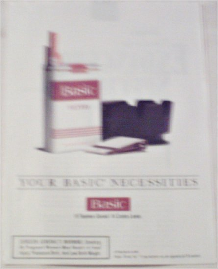 1994 Basic Cigarettes Necessities ad