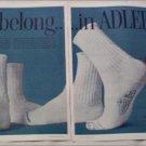 1958 Adler Socks ad