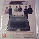 Remington Rand Quiet-Writer Portable Typewriter ad