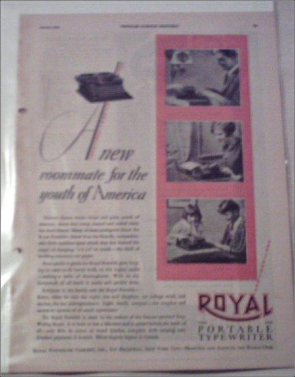1928 Royal Portable Typewriter ad