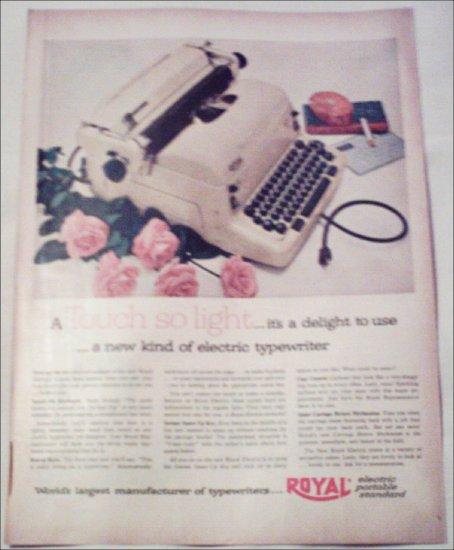 1953 Royal Electric Typewriter ad