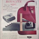 1956 Royal Portable Typewriter ad