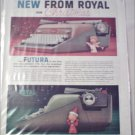 1958 Royal Futura Typewriter Christmas ad