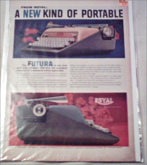 1958 Royal Futura Typewriter ad