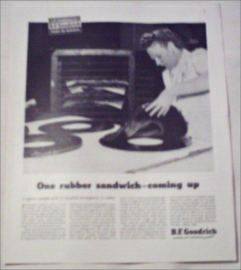 B.F.Goodrich Rubber Sandwich ad