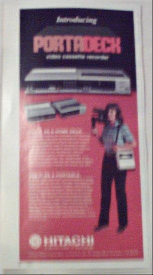 Hitachi Portadeck VCR ad