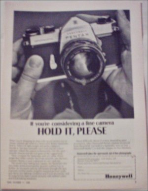1968 Honeywell Pentax Spotmatic Camera ad