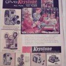 1957 Keystone Cameras Christmas ad