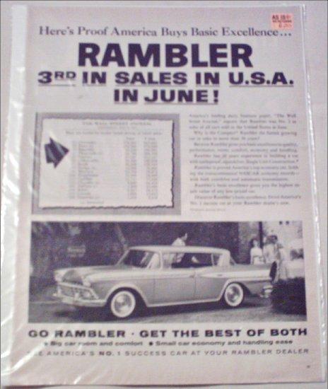 1959 American Motors Ambassador 4 dr ht car ad June