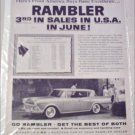 1959 American Motors Ambassador 4 dr ht car ad June