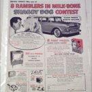 1959 American Motors Rambler 4 dr stationwagon Shaggy Dog Contest ad