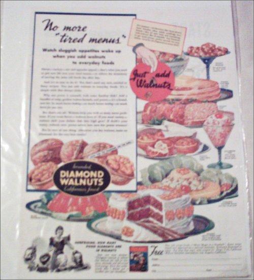 1941 Diamond Walnuts ad