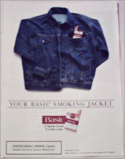 1994 Basic Cigarettes Jacket ad