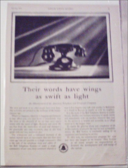 1931 Bell Telephone ad