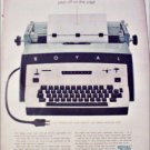 1959 Royal Electric Typewriter ad
