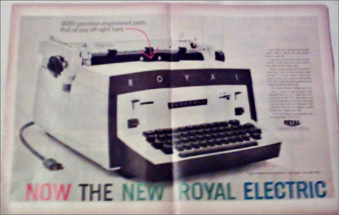 1960 Royal Electric Typewriter ad