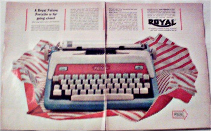 Royal Futura Portable Typewriter ad