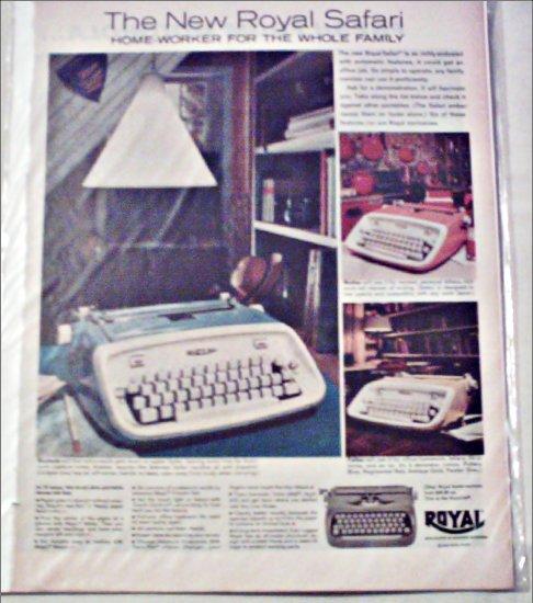 1962 Royal Safari Typewriter ad