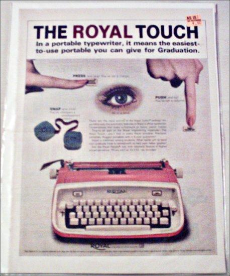 Royal Safari Typewriter ad