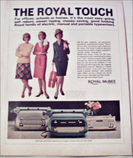 1965 Royal Touch Typewriter ad