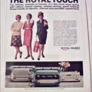 1965 Royal Touch Typewriter ad