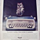 Royal Safari Typewriter Graduation ad
