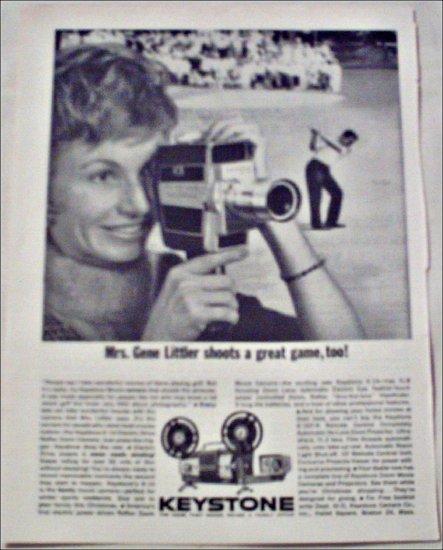 1962 Keystone K-14 Movie Camera ad featuring Mrs Gene Littler