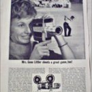 1962 Keystone K-14 Movie Camera ad featuring Mrs Gene Littler