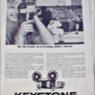 1962 Keystone K-14 Movie Camera ad featuring Mrs Don Drysdale