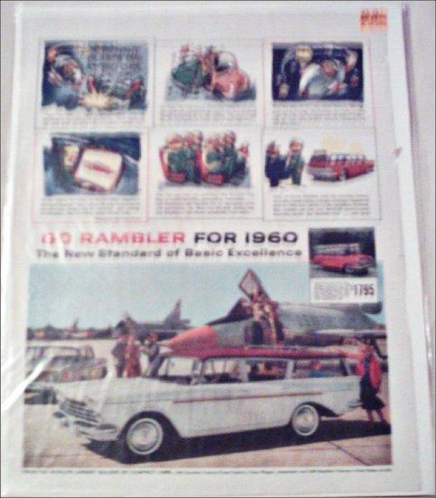 1960 American Motors Rambler Custom CC stationwagon car ad white