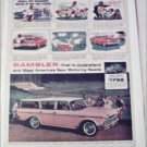 1960 American Motors Rambler Custom CC stationwagon car ad pink