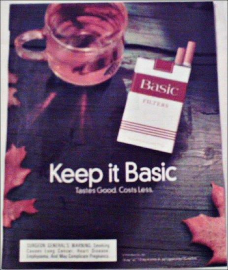 1997 Basic Cigarettes ad