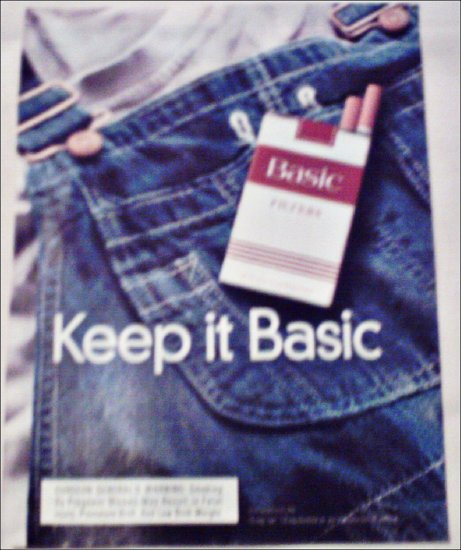 1998 Basic Cigarettes Jeans ad