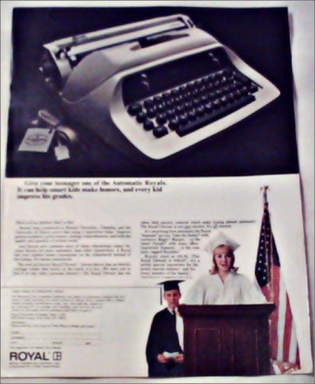 1969 Royal Ultronic Electric Typewriter ad